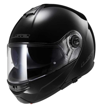 LS2 Helmets Modular Strobe Touring Motorcycle Helmet, Solid Gloss Black 325-100 - Wisconsin Harley-Davidson