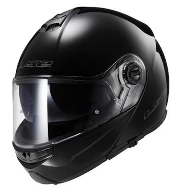 LS2 Helmets Modular Strobe Touring Motorcycle Helmet, Solid Gloss Black 325-100 - Wisconsin Harley-Davidson