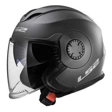 LS2 Helmets Open Face Verso Motorcycle Helmet - Solid Matte Titanium 570-103 - Wisconsin Harley-Davidson