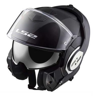 LS2 Helmets Modular Valiant Touring Motorcycle Helmet, Solid Matte Black 399-101 - Wisconsin Harley-Davidson
