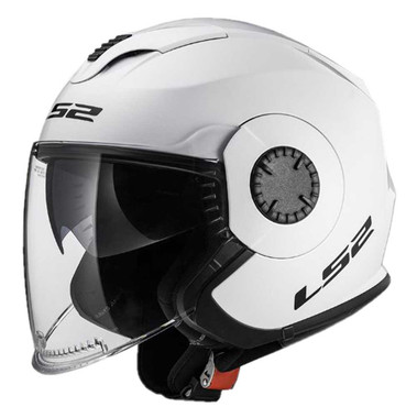 LS2 Helmets Open Face Verso Motorcycle Helmet - Solid Glossy White 570-102 - Wisconsin Harley-Davidson