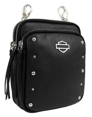 Harley-Davidson Women's B&S Rider Leather 3-IN-1 Deluxe Hip Bag RD7248L - Wisconsin Harley-Davidson