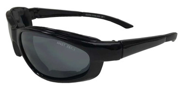Redline Motorcycle Unisex Riding Padded Sunglasses, Smoke Gray Lens 6322-FM - Wisconsin Harley-Davidson