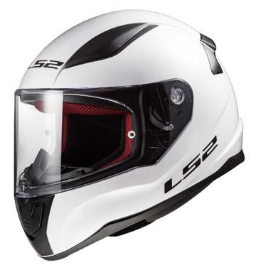 LS2 Helmets Full Face Street Rapid Motorcycle Helmet, Solid Gloss White 353-102 - Wisconsin Harley-Davidson