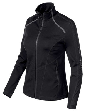Harley-Davidson Women's Stretch Mesh Reflective Accent Casual Jacket 96857-19VW - Wisconsin Harley-Davidson