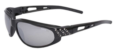 Curv Women's Riders Studded Sunglasses - Smoke Lenses & Shiny Black Frame 01-43 - Wisconsin Harley-Davidson