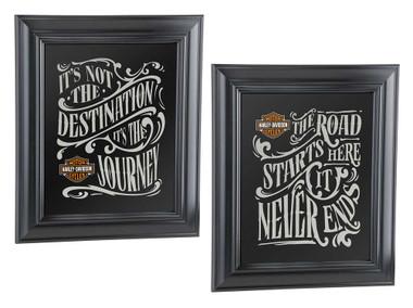 Harley-Davidson Destination Mirror Set - Black, 10.75 x 12.5 inches HDL-15231 - Wisconsin Harley-Davidson