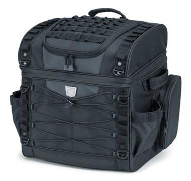 Kuryakyn Momentum Vagabond Seat & Rack Bag - Black, 18 x 12 x 15.5 inch KU-5285 - Wisconsin Harley-Davidson