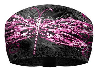 That's A Wrap Women's Dragonfly Rhinestone Splatter Knotty Band KB1429R-BLACK - Wisconsin Harley-Davidson