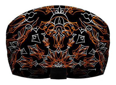 That's A Wrap Unisex Pinstripe Bandana Ultra-Soft Knotty Band - Black & Orange - Wisconsin Harley-Davidson