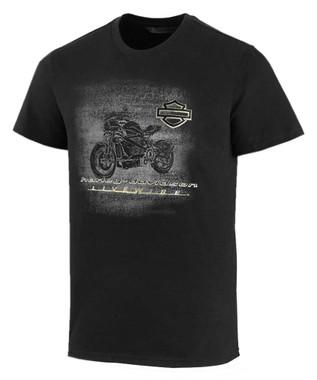 Harley-Davidson Men's LiveWire Graphic Slim Short Sleeve Tee - Black 99077-20VM - Wisconsin Harley-Davidson