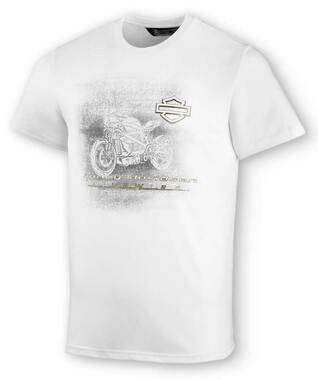 Harley-Davidson Men's LiveWire Graphic Slim Short Sleeve Tee - White 99078-20VM - Wisconsin Harley-Davidson