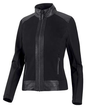 Harley-Davidson Women's Leather & Compression Knit Causal Jacket 98403-20VW - Wisconsin Harley-Davidson