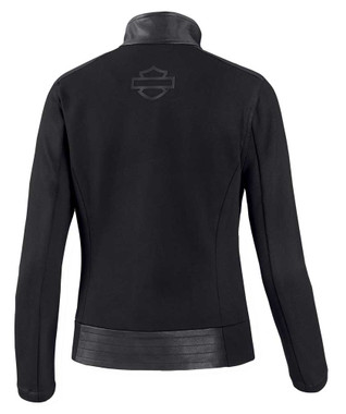 Harley-Davidson Women's Leather & Compression Knit Causal Jacket 98403-20VW - Wisconsin Harley-Davidson