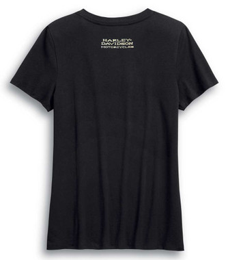 Harley-Davidson Women's Ride Free Short Sleeve Cotton Tee - Black 99046-20VW - Wisconsin Harley-Davidson