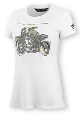 Harley-Davidson Women's LiveWire Graphic Short Sleeve Tee - White 99076-20VW - Wisconsin Harley-Davidson