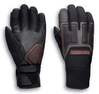 Harley-Davidson Men's Vanocker Under Cuff Gauntlet Gloves - Black 98118-20VM - Wisconsin Harley-Davidson