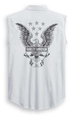 Harley-Davidson Men's Freedom Sleeveless Blowout Tee - White 99011-20VM - Wisconsin Harley-Davidson