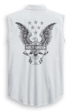 Harley-Davidson Men's Freedom Sleeveless Blowout Tee - White 99011-20VM - Wisconsin Harley-Davidson