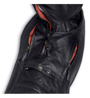 Harley-Davidson Womens Vanocker Waterproof Triple Vent Leather Jacket 98004-20VW - Wisconsin Harley-Davidson