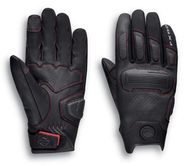 Harley-Davidson Men's FXRG Dynamic Performance Gloves - Black 98296-20VM - Wisconsin Harley-Davidson