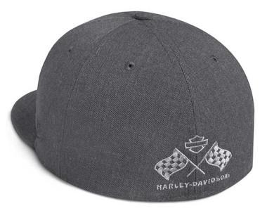 Harley-Davidson Men's Circle Patch 59FIFTY Baseball Cap, Black 99401-20VM - Wisconsin Harley-Davidson