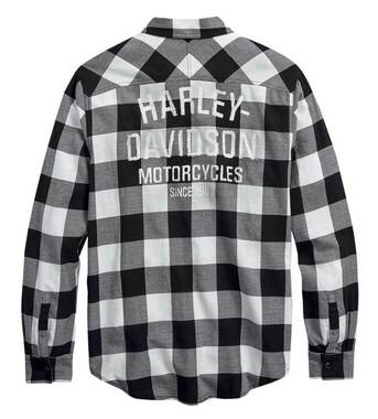 Harley-Davidson Men's Buffalo Plaid Long Sleeve Casual Slim Shirt 99017-20VM - Wisconsin Harley-Davidson