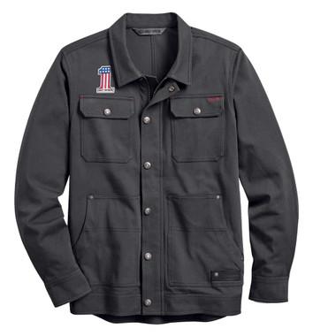 Harley-Davidson Men's #1 Stretch Slim Fit Casual Jacket - Asphalt 98401-20VM - Wisconsin Harley-Davidson