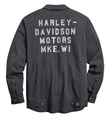 Harley-Davidson Men's #1 Stretch Slim Fit Casual Jacket - Asphalt 98401-20VM - Wisconsin Harley-Davidson