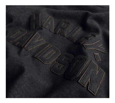 Harley-Davidson Women's Vintage Zip-Front Cardigan Sweater - Black 99062-20VW - Wisconsin Harley-Davidson