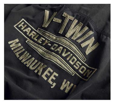 Harley-Davidson Men's V-Twin Slim Short Sleeve Woven Shirt - Espresso 99009-20VM - Wisconsin Harley-Davidson