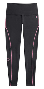 Harley-Davidson Women's Pink Label Performance Leggings - Black/Pink 99059-20VW - Wisconsin Harley-Davidson