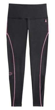 Harley-Davidson Women's Pink Label Performance Leggings - Black/Pink 99059-20VW - Wisconsin Harley-Davidson