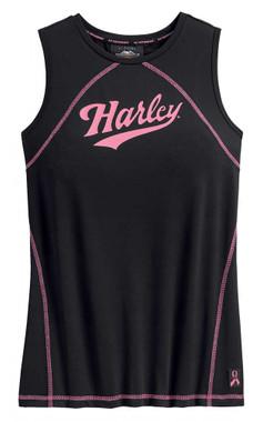 Harley-Davidson Women's Pink Label Performance Sleeveless Tank Top 99055-20VW - Wisconsin Harley-Davidson