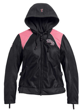 Harley-Davidson Women's Pink Label 3-in-1 Mesh Riding Jacket - Black 98136-20VW - Wisconsin Harley-Davidson