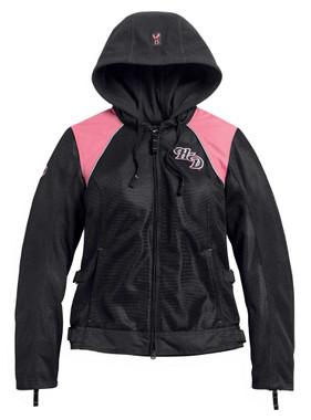 Harley-Davidson Women's Pink Label 3-in-1 Mesh Riding Jacket - Black 98136-20VW - Wisconsin Harley-Davidson