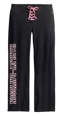 Harley-Davidson Women's Pink Label Activewear Sweat Pants - Black 99058-20VW - Wisconsin Harley-Davidson