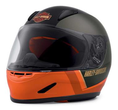 Harley-Davidson Men's Killian Youth H30 Full-Face Kids Helmet, Orange 98116-20VX - Wisconsin Harley-Davidson