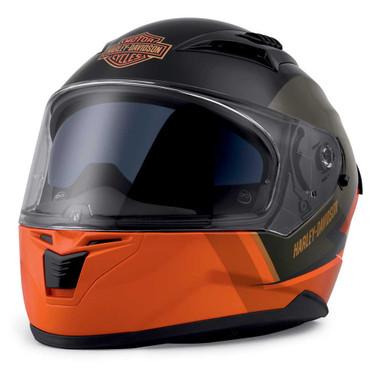 Harley-Davidson Men's Killian M05 Full-Face Helmet, Gray/Black/Orange 98114-20VX - Wisconsin Harley-Davidson