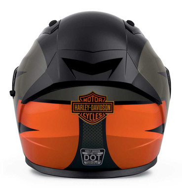 Harley-Davidson Men's Killian M05 Full-Face Helmet, Gray/Black/Orange 98114-20VX - Wisconsin Harley-Davidson