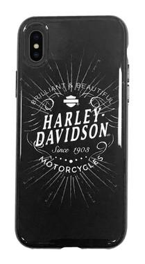 Harley-Davidson Venture Brilliant Script iPhone X/XS Phone Case, Black 9511 - Wisconsin Harley-Davidson