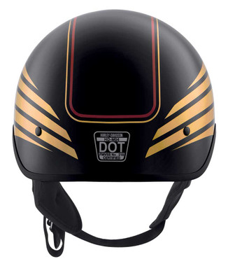 Harley-Davidson Men's Ultra M04 Wicking Half Helmet, Black/Gold 98112-20VX - Wisconsin Harley-Davidson