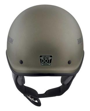 Harley-Davidson Men's Curbside DLX X06 Half Helmet, Matte Titanium 98108-20VX - Wisconsin Harley-Davidson