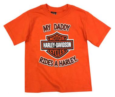 Harley-Davidson Little Boys' Daddy Rides a Harley Short Sleeve T-Shirt 1570937 - Wisconsin Harley-Davidson