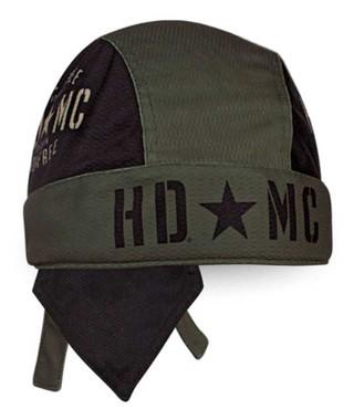 Harley-Davidson Men's Military Star Colorblocked Mesh Headwrap, Green HW34394 - Wisconsin Harley-Davidson