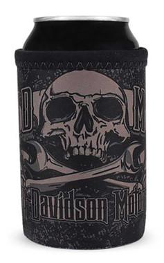 Harley-Davidson Grim Skulls Firm Bottom Neoprene Can Wrap - Black CW34180 - Wisconsin Harley-Davidson