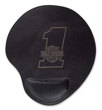 Harley-Davidson #1 Bar & Shield Logo Neoprene Mouse Pad w/ Leatherette MO03530 - Wisconsin Harley-Davidson