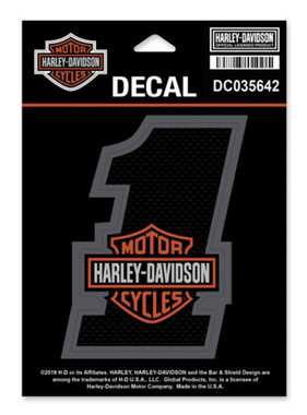 Harley-Davidson #1 Bar & Shield Decal, SM Size - 3.25 x 4.25 inches DC035642 - Wisconsin Harley-Davidson