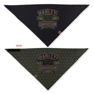 Harley-Davidson Men's 3-in-1 Convertible Military Star Bandana, Black BAC34394 - Wisconsin Harley-Davidson