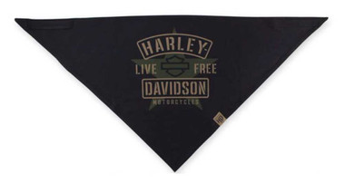 Harley-Davidson Men's 3-in-1 Convertible Military Star Bandana, Black BAC34394 - Wisconsin Harley-Davidson